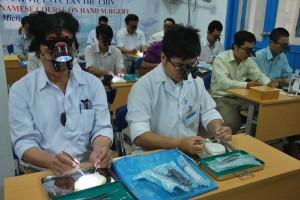 Micro surgery training Vietnam.